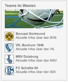DerWesten - die Fußball-Teams im Revier