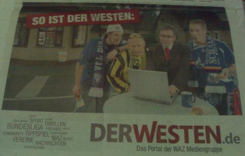 DerWesten-Werbung zum Thema Revier-Fußball