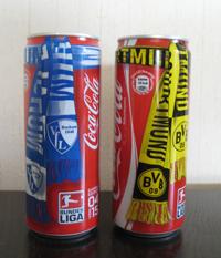 Dosen vom VfL Bochum und von Borussia Dortmund